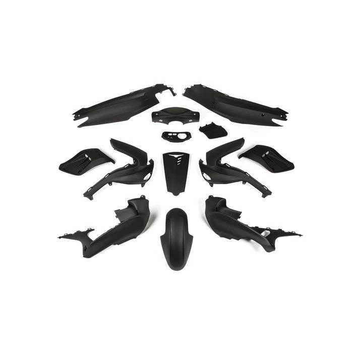 Gilera Runner (iki 2005 metų) juodas matinis plastikų komplektas (13 plastikų)